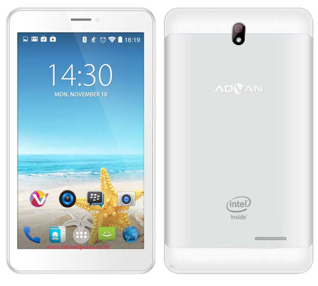 Harga Tablet Advan X7, Android Intel Atom Terbaru September 2018