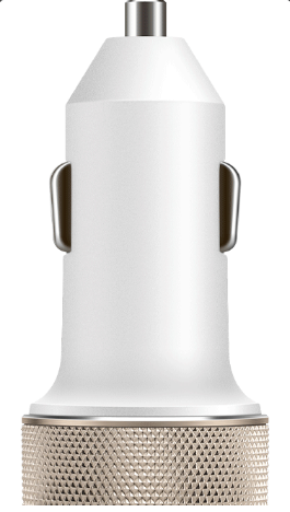 vooc car charger oppo white
