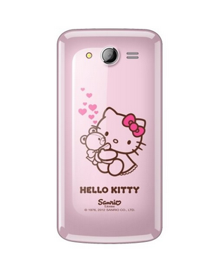 Evercoss A7S Hello Kitty + Powerbank belakang