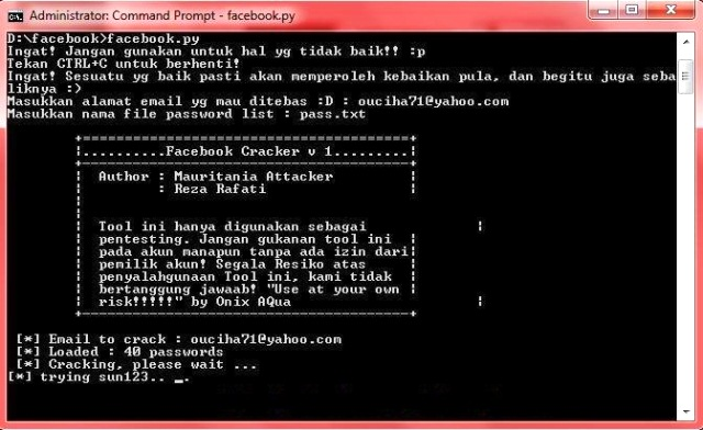 Cara Hack Facebook Menggunakan Software CMD Windows 2018